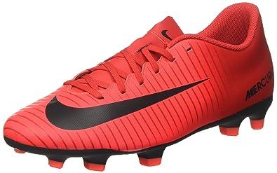 Nike Herren Mercurial Vortex III FG Fußballschuhe, Mehrfarbig (University  Redblackbright Crimson), 40.5