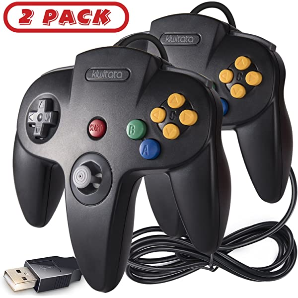 2 Pack Classic N64 Controller, iNNEXT N64 Wired USB PC Game