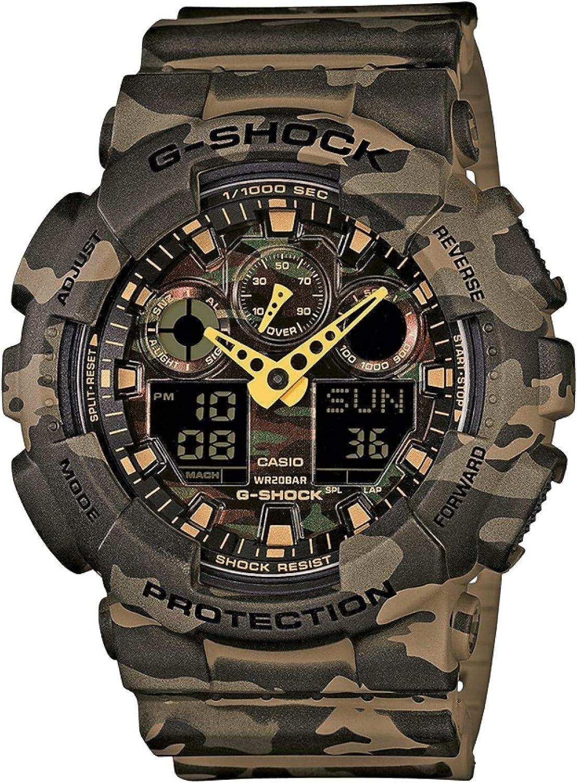 Casio Reloj Analógico para Hombre de Cuarzo con Correa en Resina GA-100CM-5AER