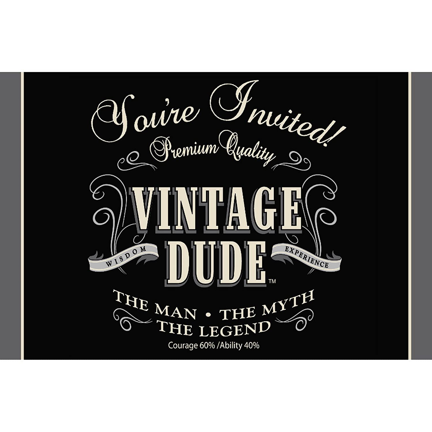 Amazon.com: 8-Count Party Invitations, Vintage Dude 60th Birthday ...