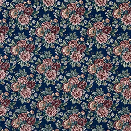 Amazon Com Sapphire Blue And Salmon Rose Bouquet Floral Tapestry