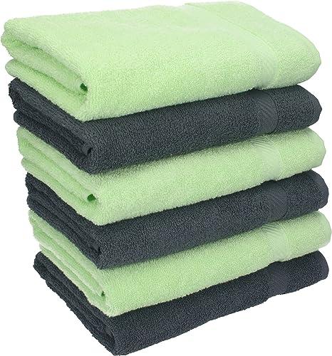 Colore Misura 50 x 100 cm BETZ Set di 6 Asciugamani Palermo Bianco