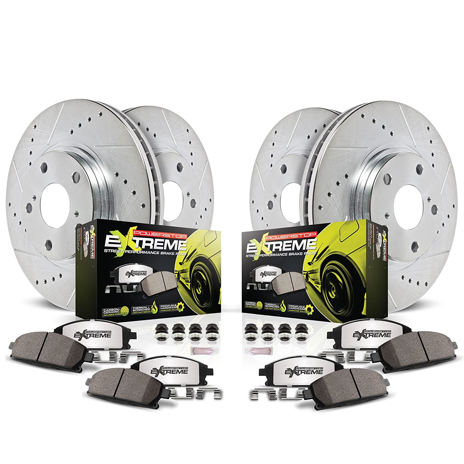 Power Stop K2440-26 1-Click Street Warrior Z26 Brake Kit