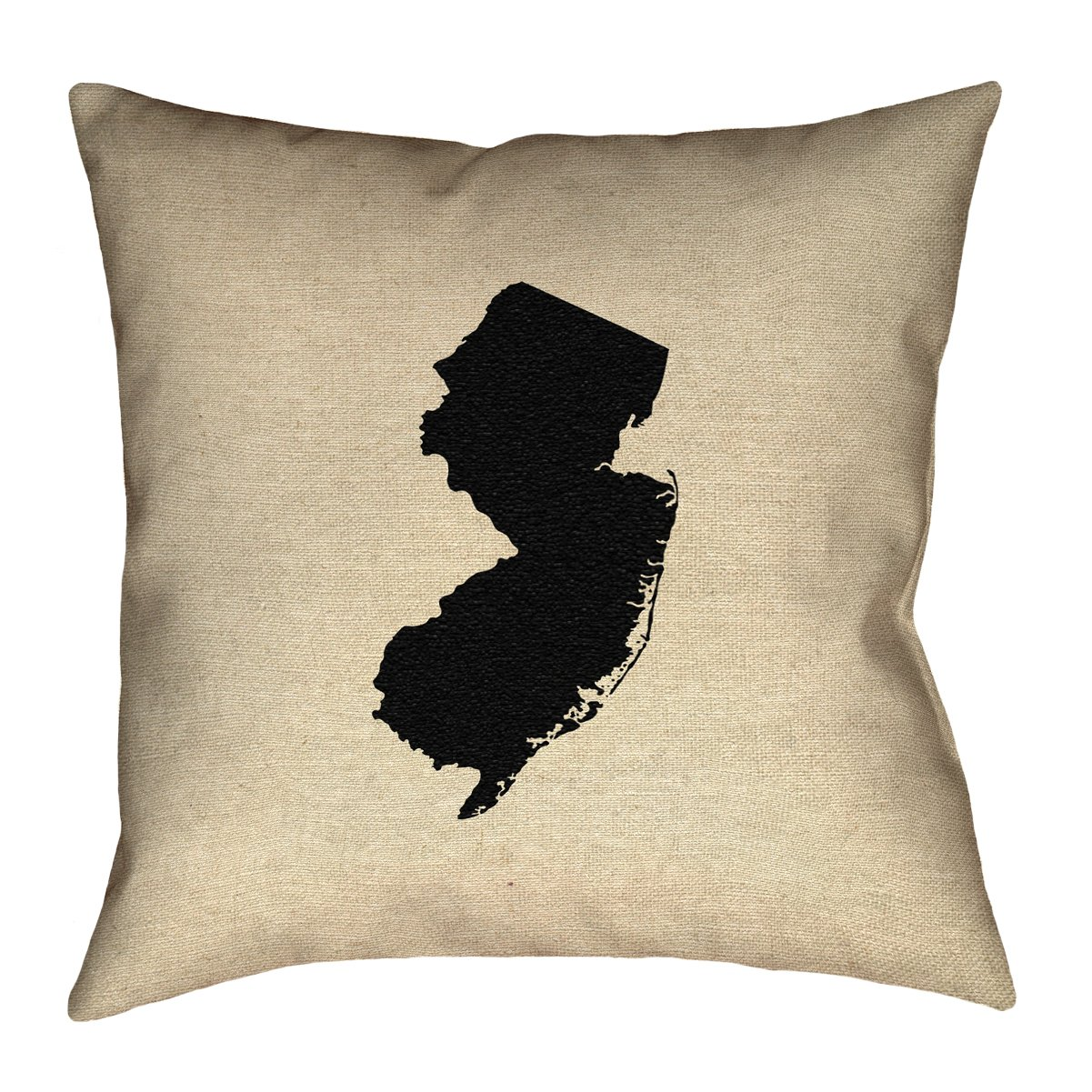 ArtVerse Katelyn Smith 18 x 18 Poly Twill Double Sided Print with Concealed Zipper /& Insert New Jersey Pillow