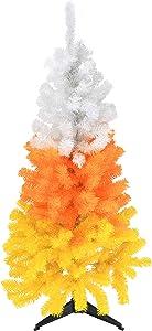 Tree Buddees White Orange and Yellow Candy Corn Halloween Tree (4 Foot)