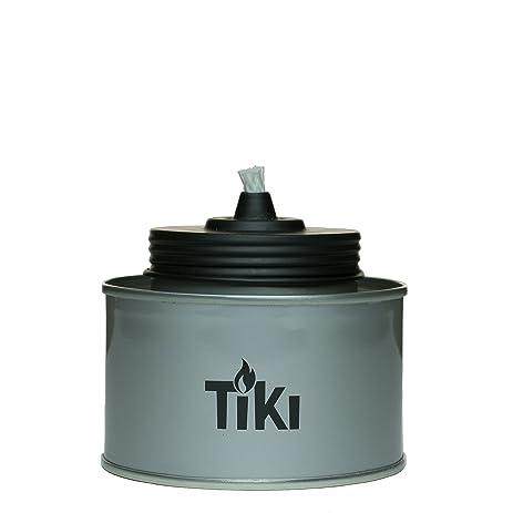 TIKI Brand 4.5u0026quot; TIKI Tin Table Torch, Silver