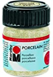 "Marabu Porzellanfarbe ""Porcelain"", glitter-gold, 15 ml VE=1"