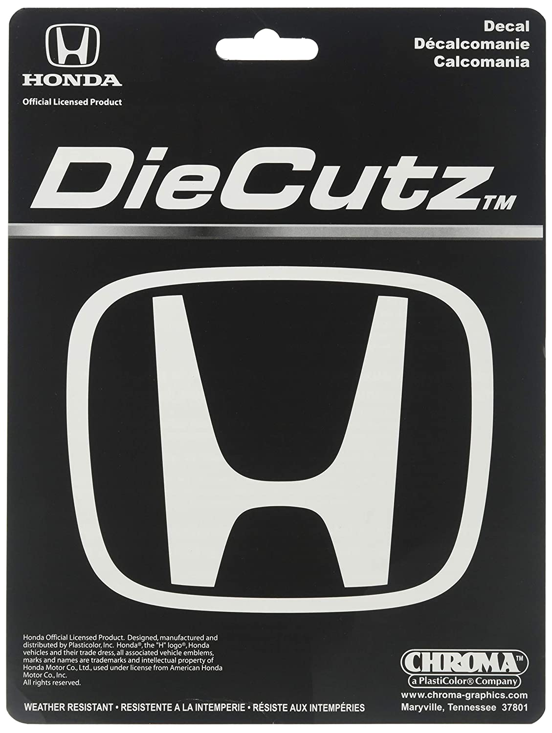 Chroma Graphics 3946 White Honda H Die Cutz Decal