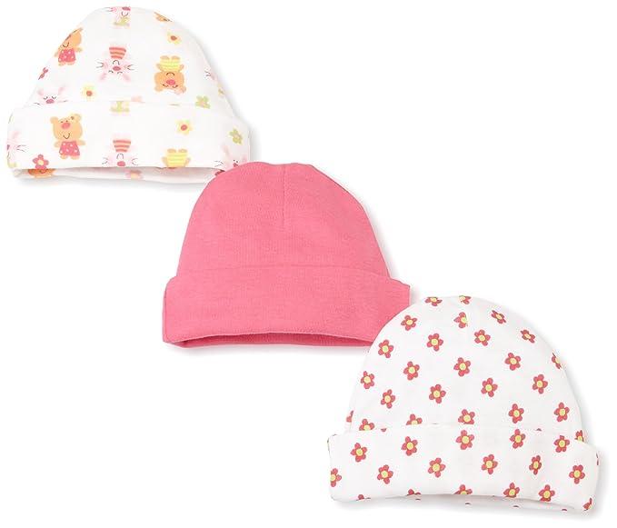 af27a8e63 Gerber Baby Girls' 3 Pack Cap