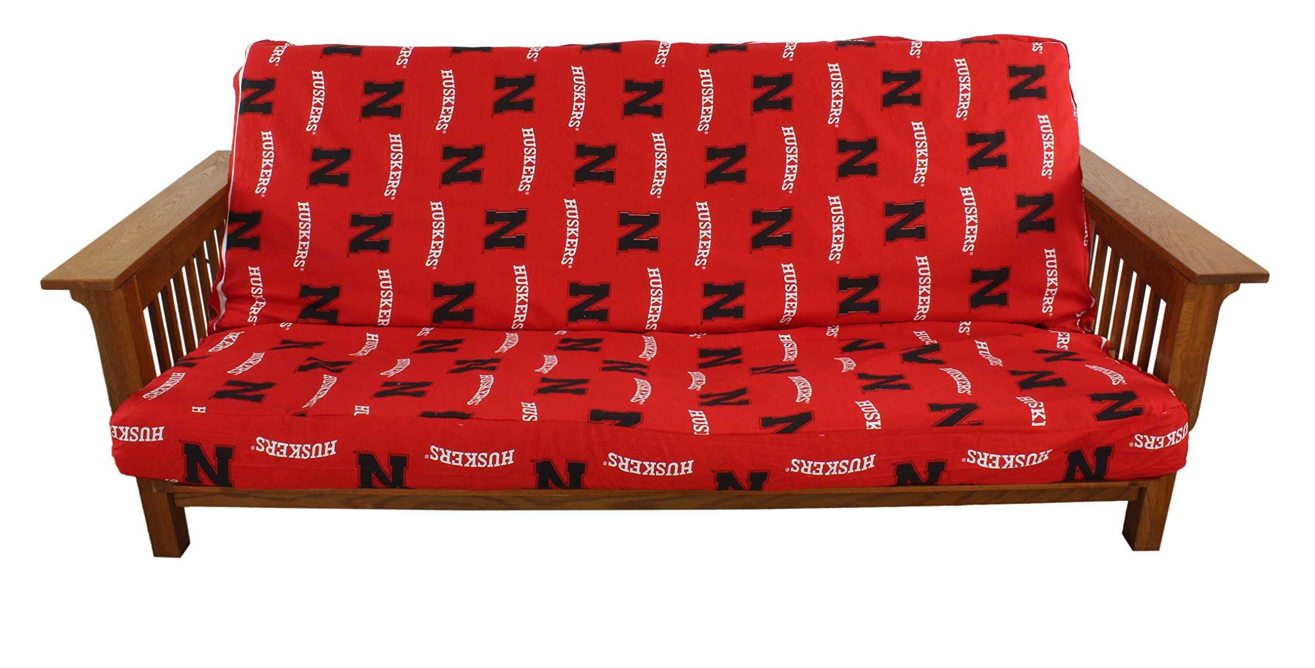 College Covers Nebraska Cornhuskers Futon Cover - Full size fits 6 and 8 inch mats