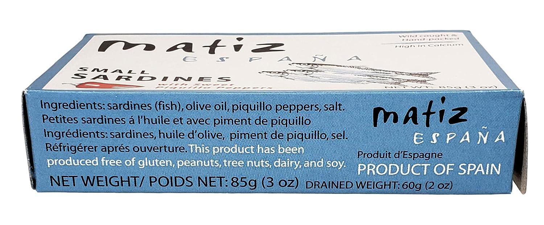 Matiz sardinillas con Piquillo Peppers – Baby Sardinas – 3 ...