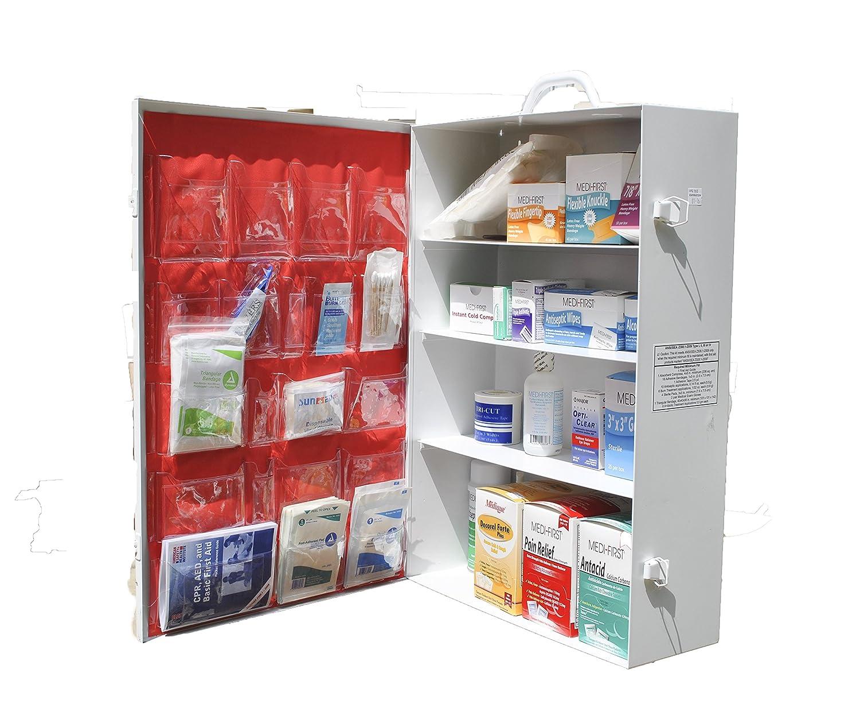 Amazon.com: Medique 738M1 5-Shelf Industrial First Aid Cabinet ...