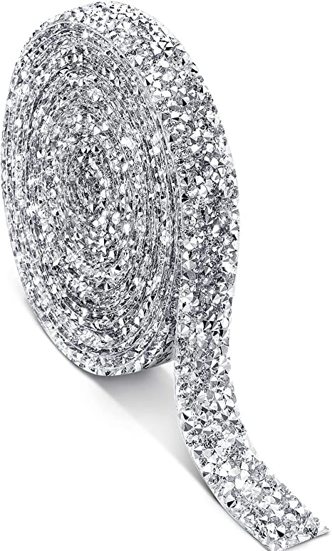 1 Yard Diamante Rhinestone Mesh Ribbon Crystal Banding Wedding Cake Decoration