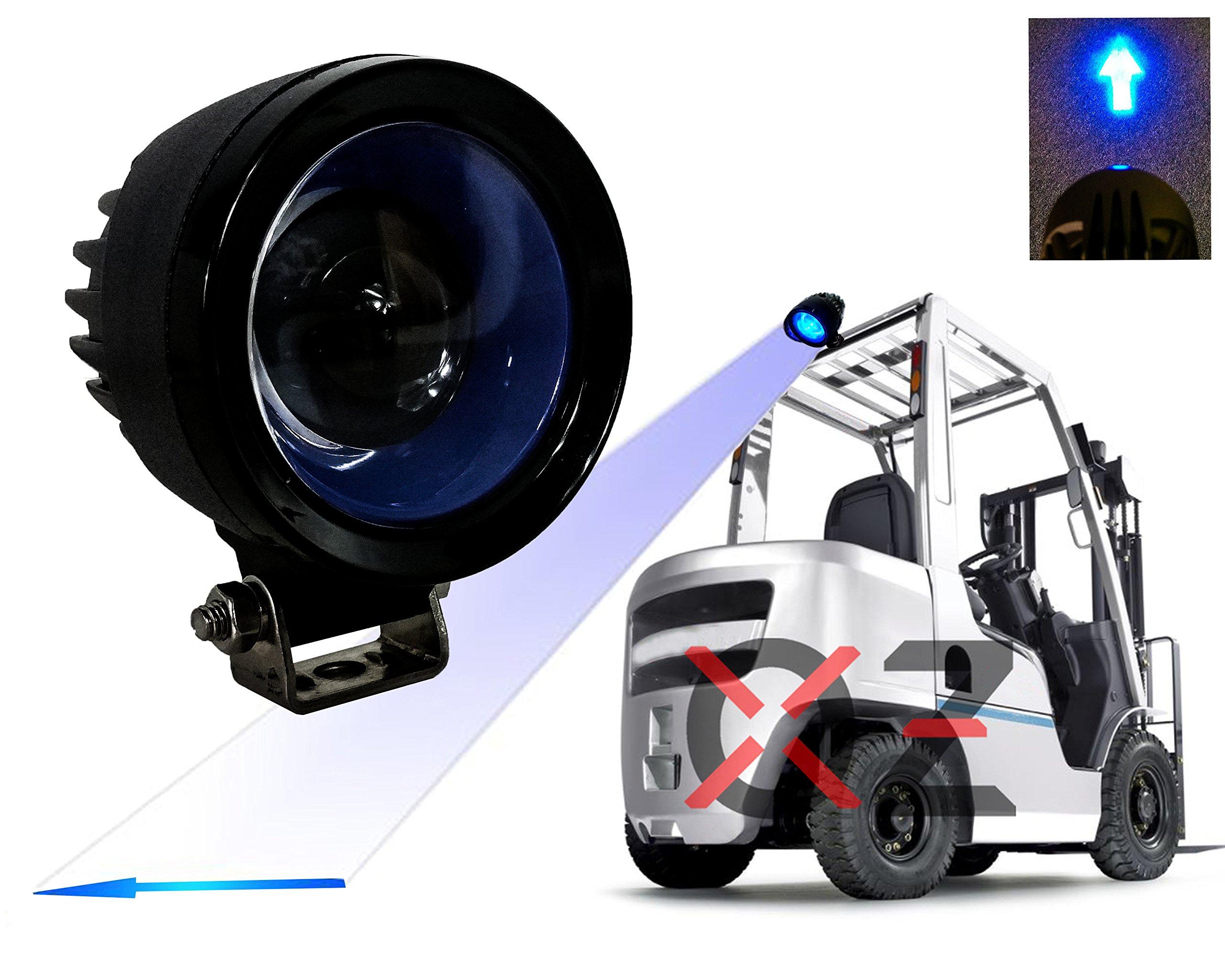 FR Series 4'' Oval High Output LED Light (Blue Arrow)