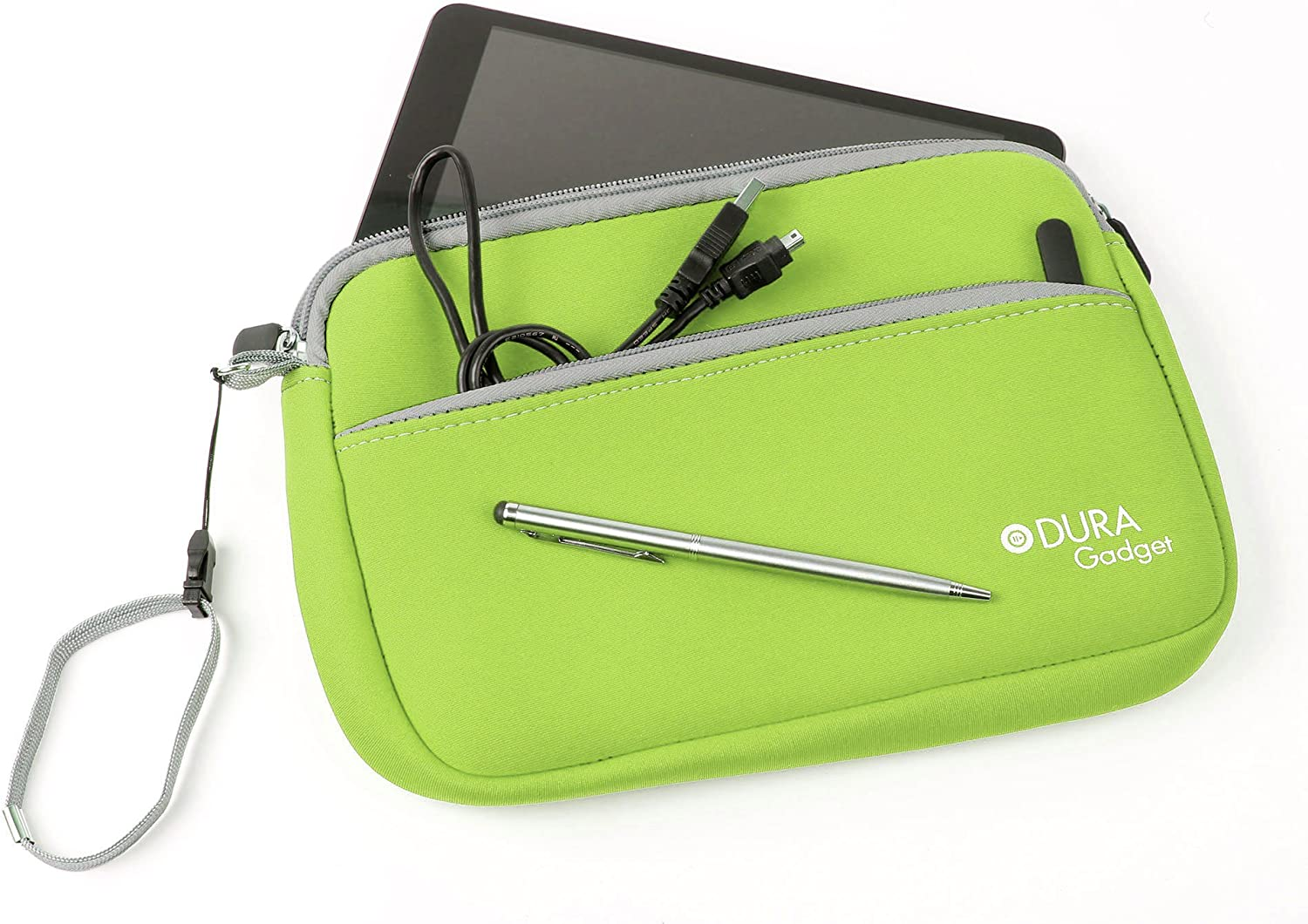 DURAGADGET Lime Green Water Resistant Neoprene Case - Compatible with Acer Iconia Tab A1-810 | A1-810-81251G00NW | Iconia Tab A210 | Iconia Tab A211 | Iconia Tab A200 | Iconia Tab A1-810