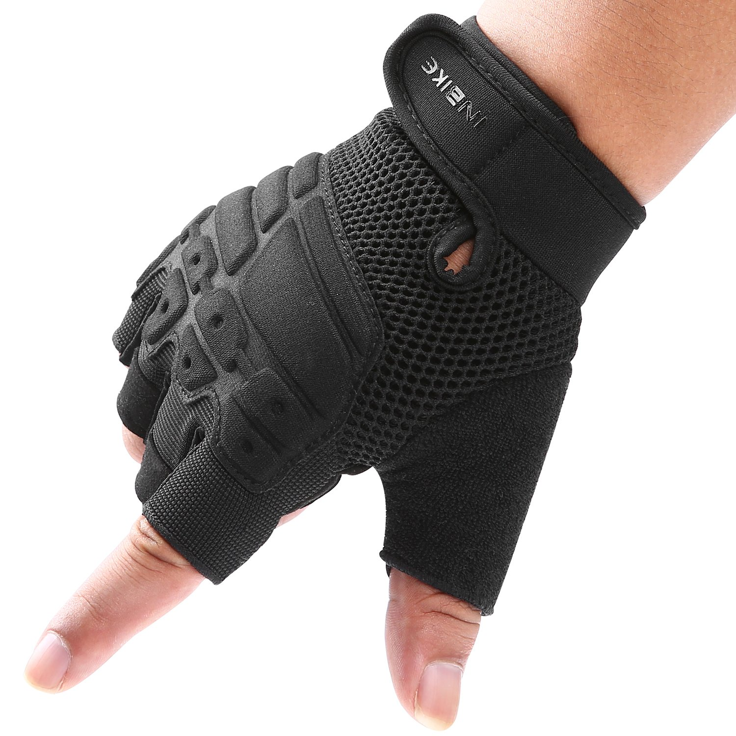 INBIKE Workout Gloves Half Finger Palm Pad Tactical Gloves Cycling Gloves Fit for Climbing//Hiking//Camping//Laser Tag//Motorcycle Men Women