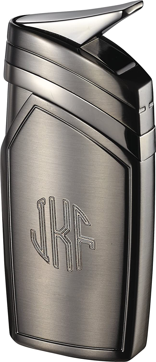 Personalized Visol Spark Gunmetal Torch Flame Lighter with Free Engraving  (French Script)