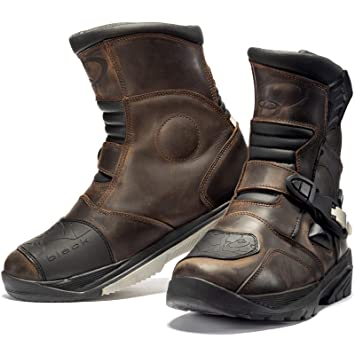 Black Rogue Adventure Mid Wp Motorcycle Boots Amazon Co Uk Car