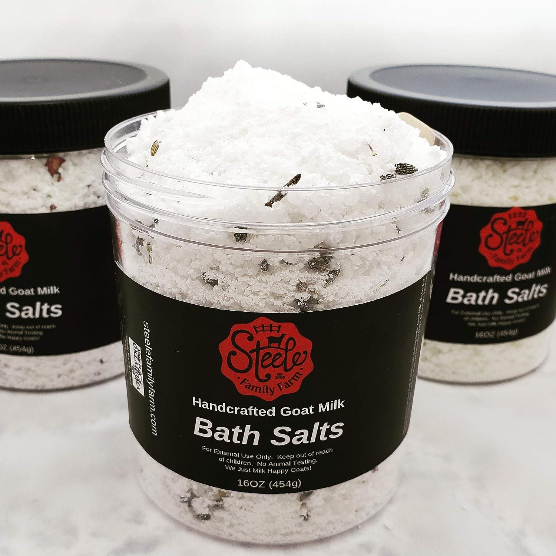 16oz Handcrafted Goat Milk Bath Salts