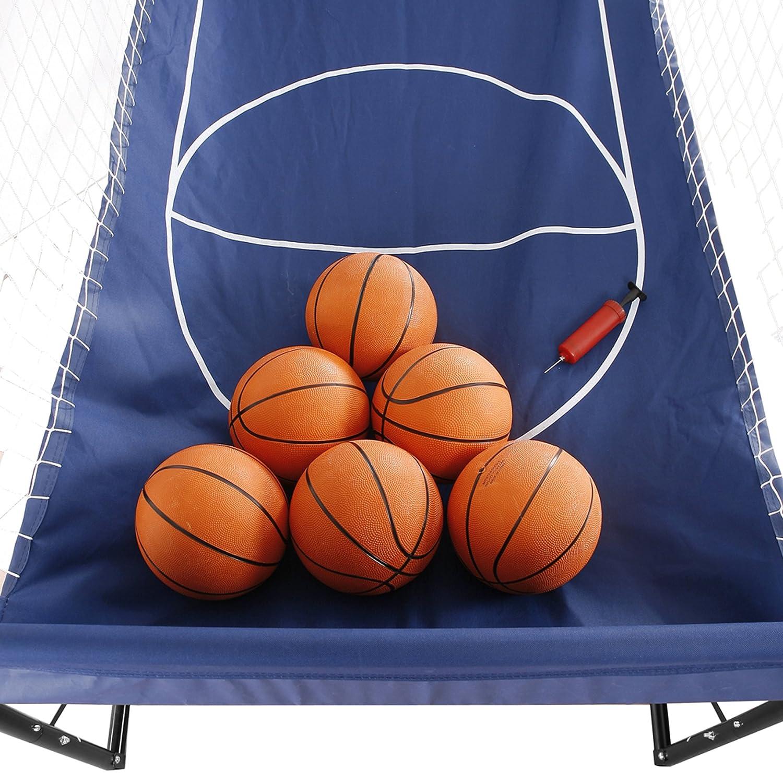 amazon com hathaway hoops dual electronic basketball game blue