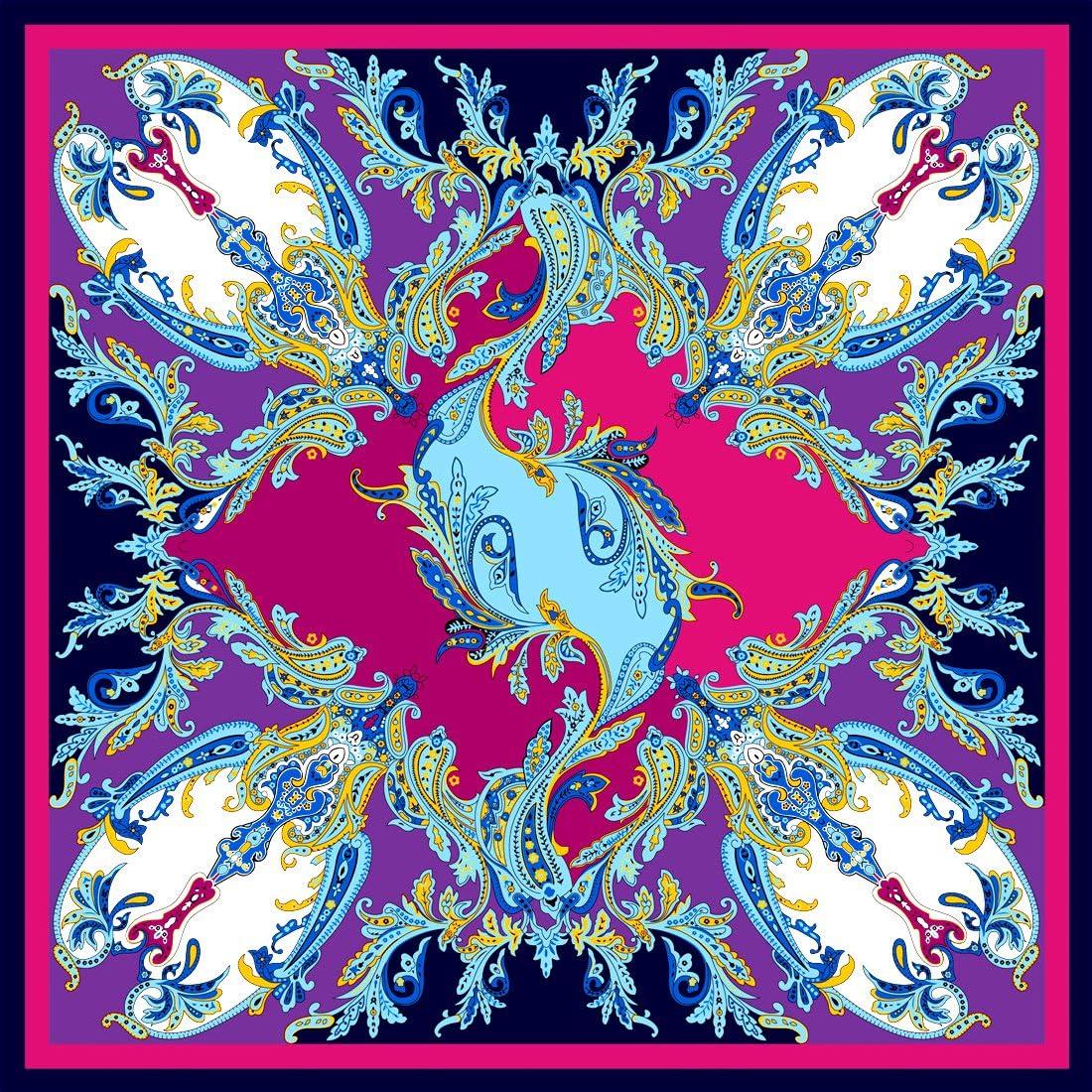 Lorenzo Cana Marken Seidentuch Damentuch aus 100/% Seide Barock mit Paisleymuster Tuch Schal Markentuch