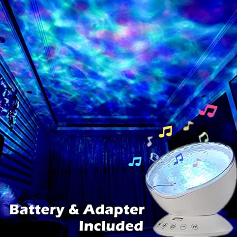 Amazon batteryadapter included glowsunny remote control batteryadapter included glowsunny remote control hypnosis ocean wave led projector night light with music mozeypictures Choice Image