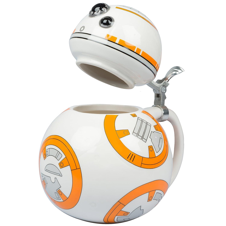 Star Wars BB-8 Droid Force Awakens 22oz Cup Mug Drinking Stein Collectible Ceramic Mug with Metal Hinge