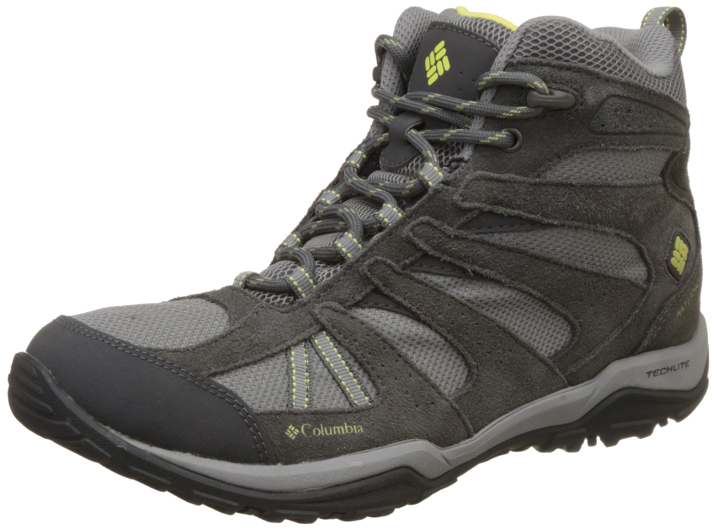 Columbia Women's Dakota Drifter Mid Waterproof Hiking Boot, Light Grey, Sunnyside, 9 B US