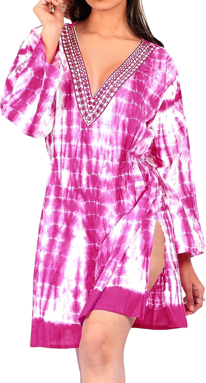 LA LEELA Frauen td137 tie dye Bikini Baumwolle Hand zu
