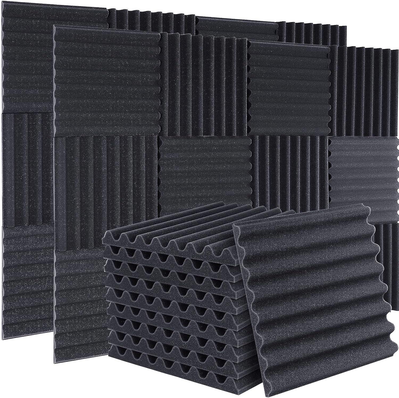 50 Packs Acoustic Foam Panels Sound Proof Padding,1