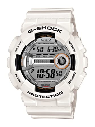 a2e54fdba8e4 Amazon.com  Casio Men s GD110-7 G-Shock White Resin 60 Lap Digital ...