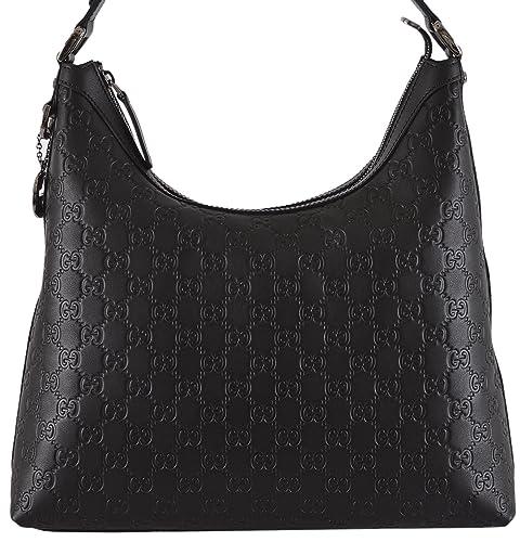 Gucci GG de piel negro GG Guccissima colgante para Mujer Hobo bolso de mano: Amazon.es: Zapatos y complementos