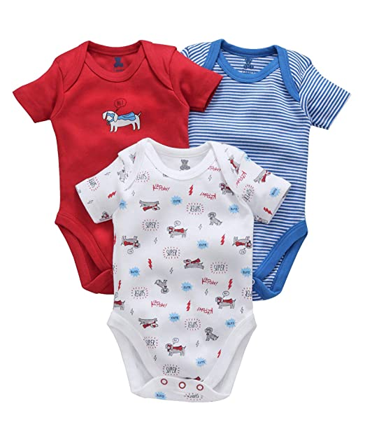 2e8165ef2 I Bears Half Sleeves Onesies Set Pack of 3