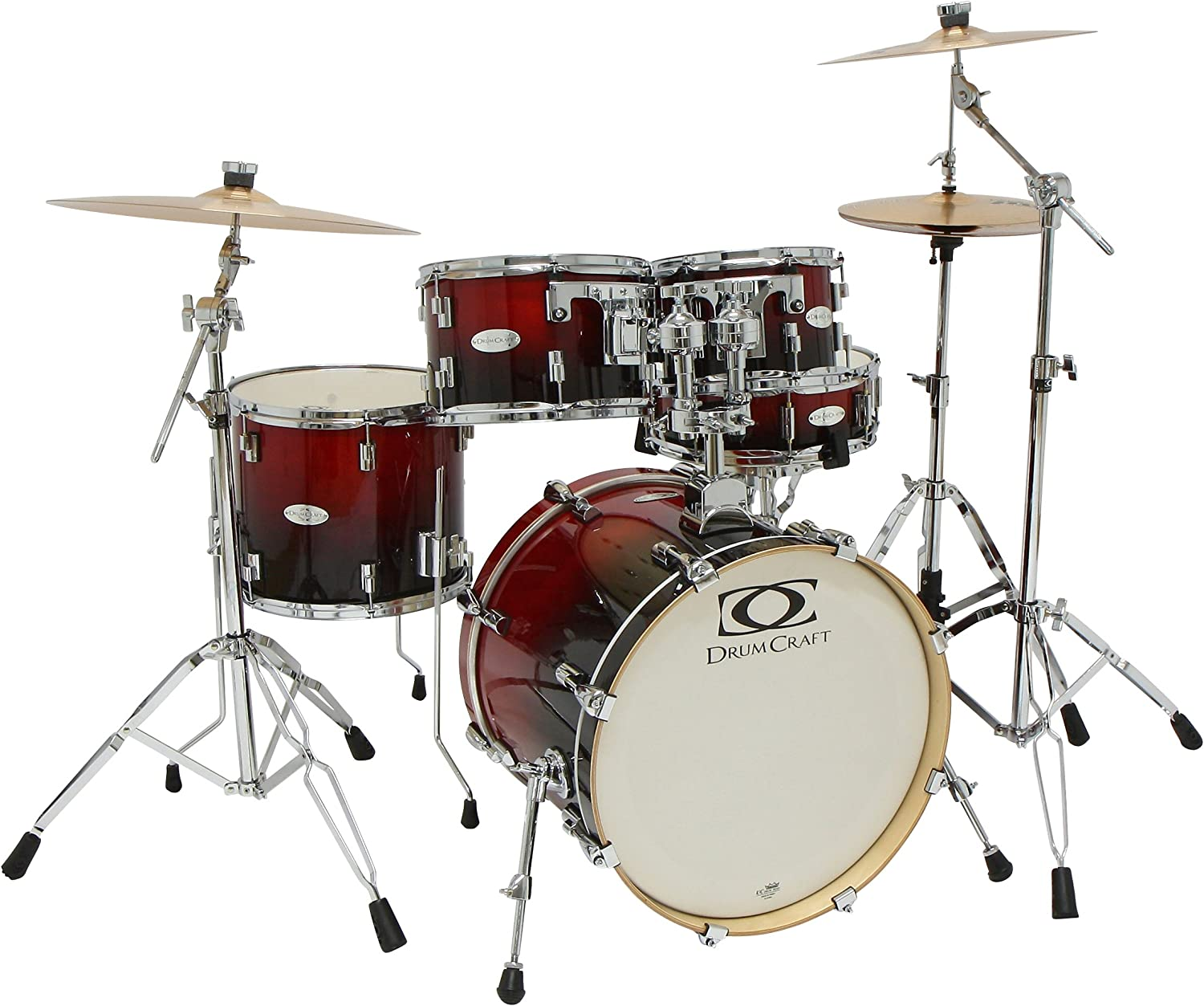 Drum Craft DC805043 Series 5 Jazz Drum Set - Crimson Fade
