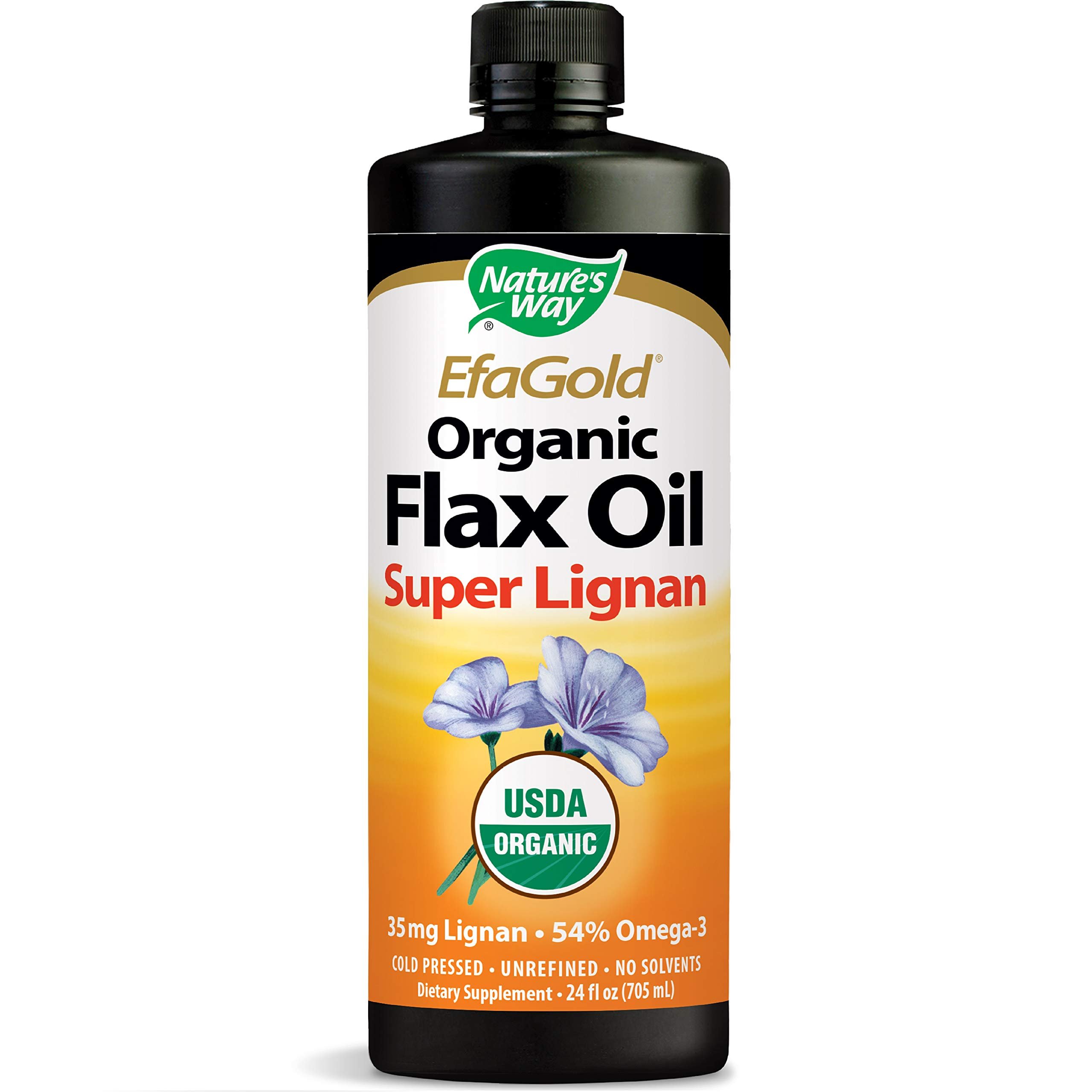 Nature's Way EfaGold Organic Flax Oil Super Lignan, 24 Ounce by Nature's Way