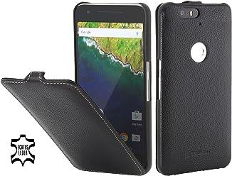 StilGut UltraSlim, Housse en Cuir avec Fonction Smart Cover pour Google Nexus 6P