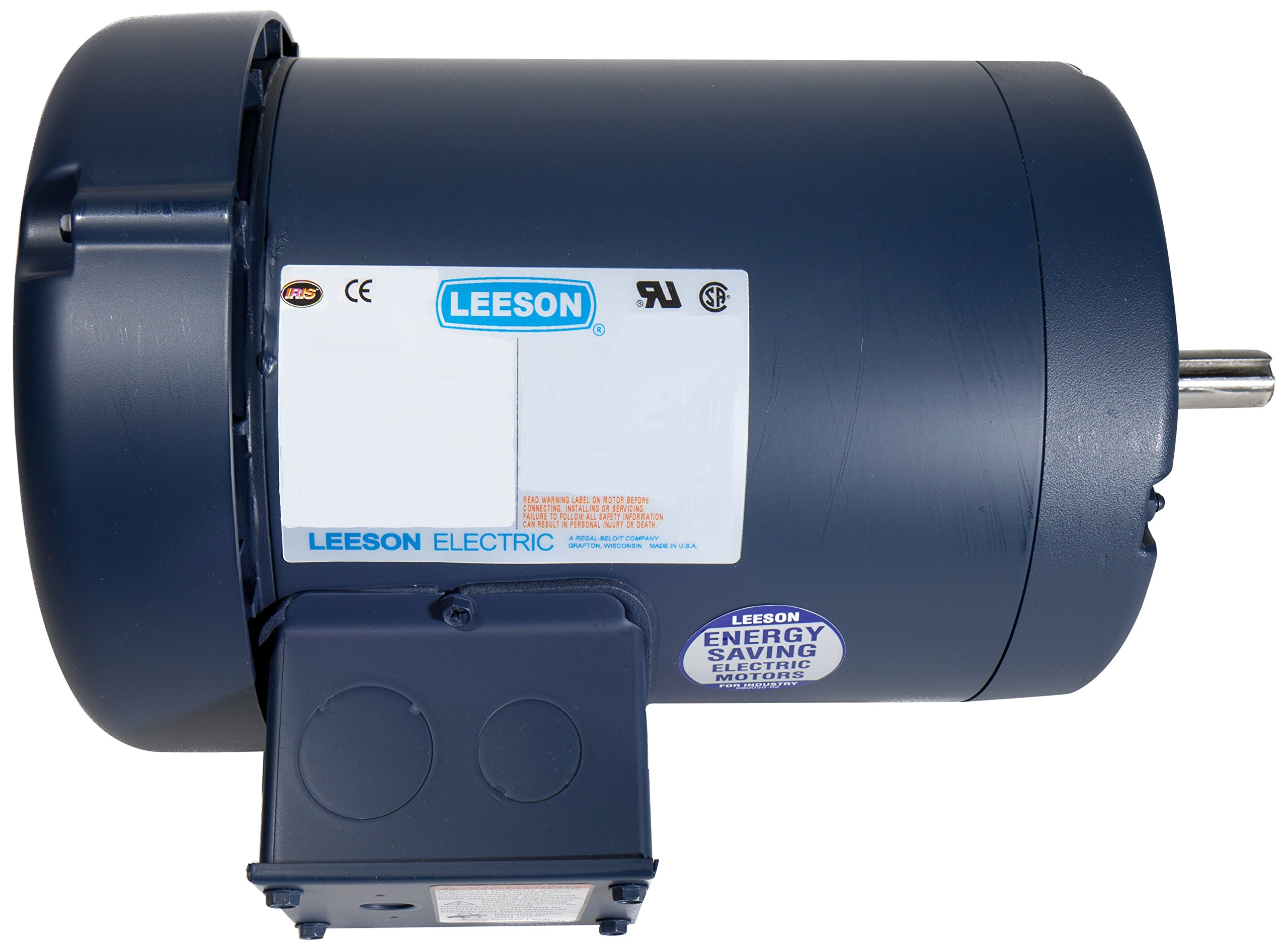 Leeson 116745.00 General Purpose C Face Motor, 3 Phase, 56C Frame, Rigid Mounting, 1HP, 1800 RPM, 208-230/460V Voltage, 60/50Hz Fequency