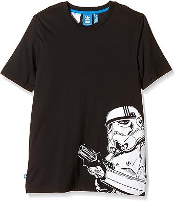 dinero Arado apasionado  adidas Manga Corta Camiseta de Star Wars Stormtrooper: Amazon.es: Ropa y  accesorios