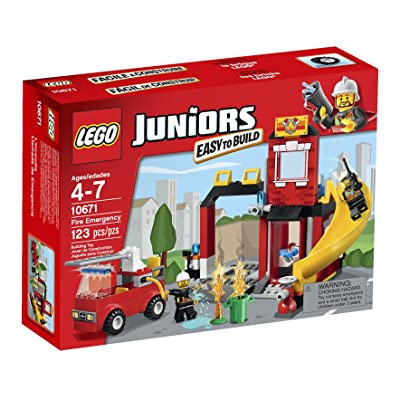 LEGO Juniors Fire Emergency 10671 Building Set: Toys & Games