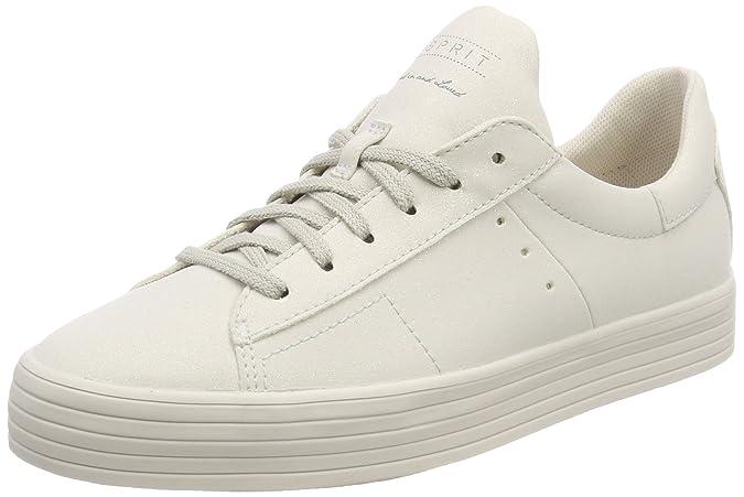 Esprit Elda Lace Up, Sneakers Basses Femme, Gris (Pastel Grey), 42 EU
