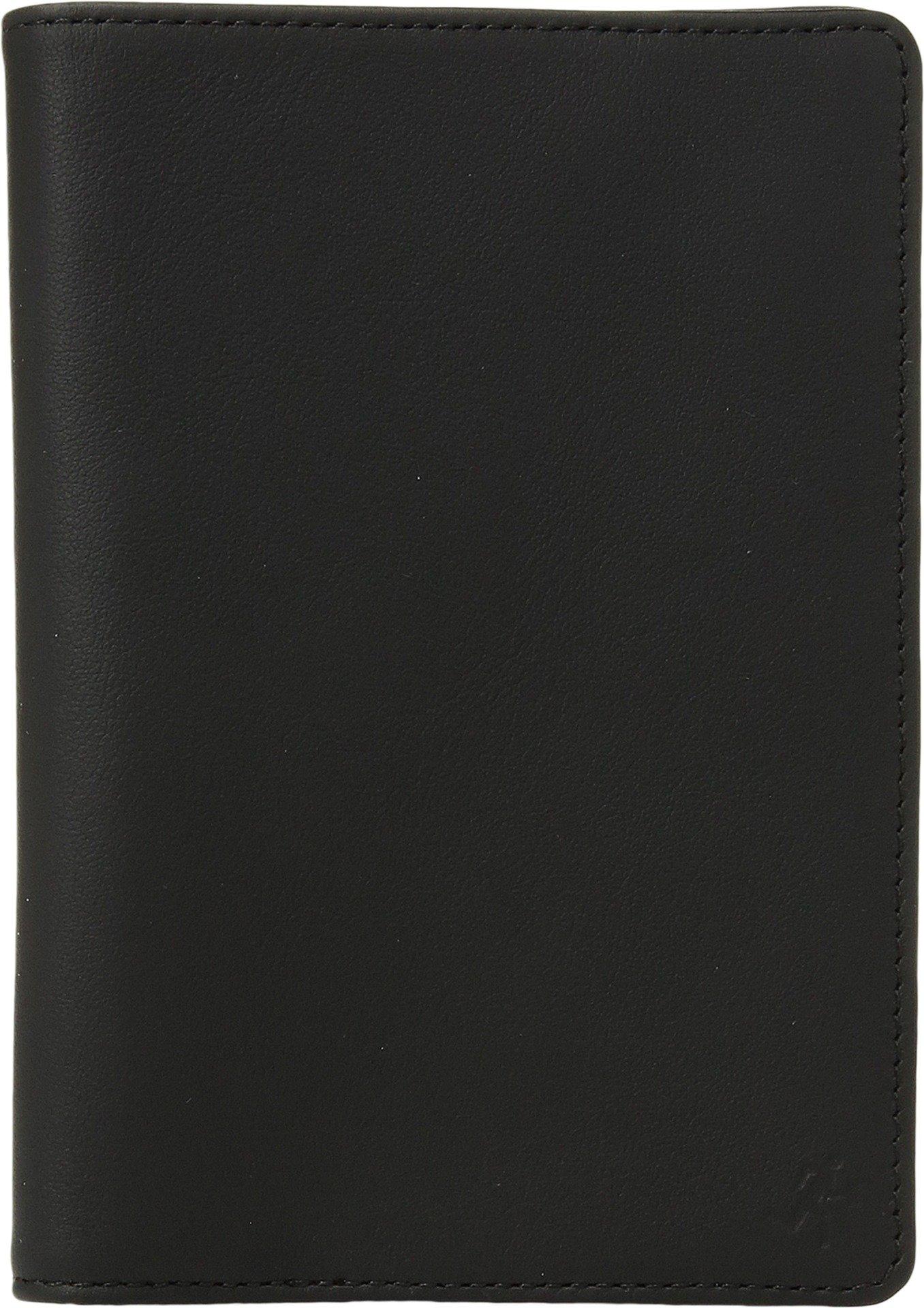 WANT LES ESSENTIELS Men's Pearson Passport Cover, Black/Cognac, One Size