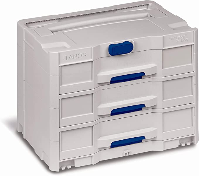 3 Tanos Systainer L237 Storage Container Light Gray
