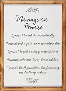 "Homestead Gifting Co. Rustic Wall Decor Wedding Gift for Married and Newlywed Couples - Anniversary Home Decor Gift - Wooden Rustic Wall Sign for Home- 16.5"" x 11"""