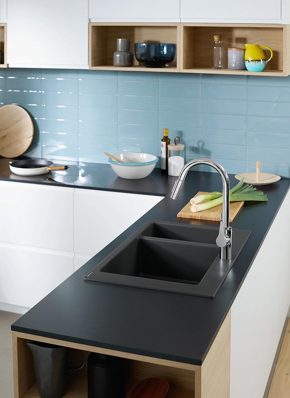 Hansgrohe - 14803000 - Chrome Cento XL Swan Neck Kitchen Mixer Tap ...