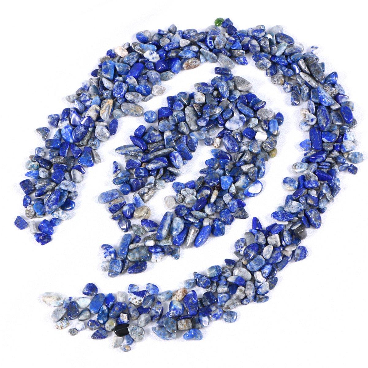 UEETEK Pierres de roche décoratives de couleur mélangée de gravier poli pour l'aquarium (bleu)