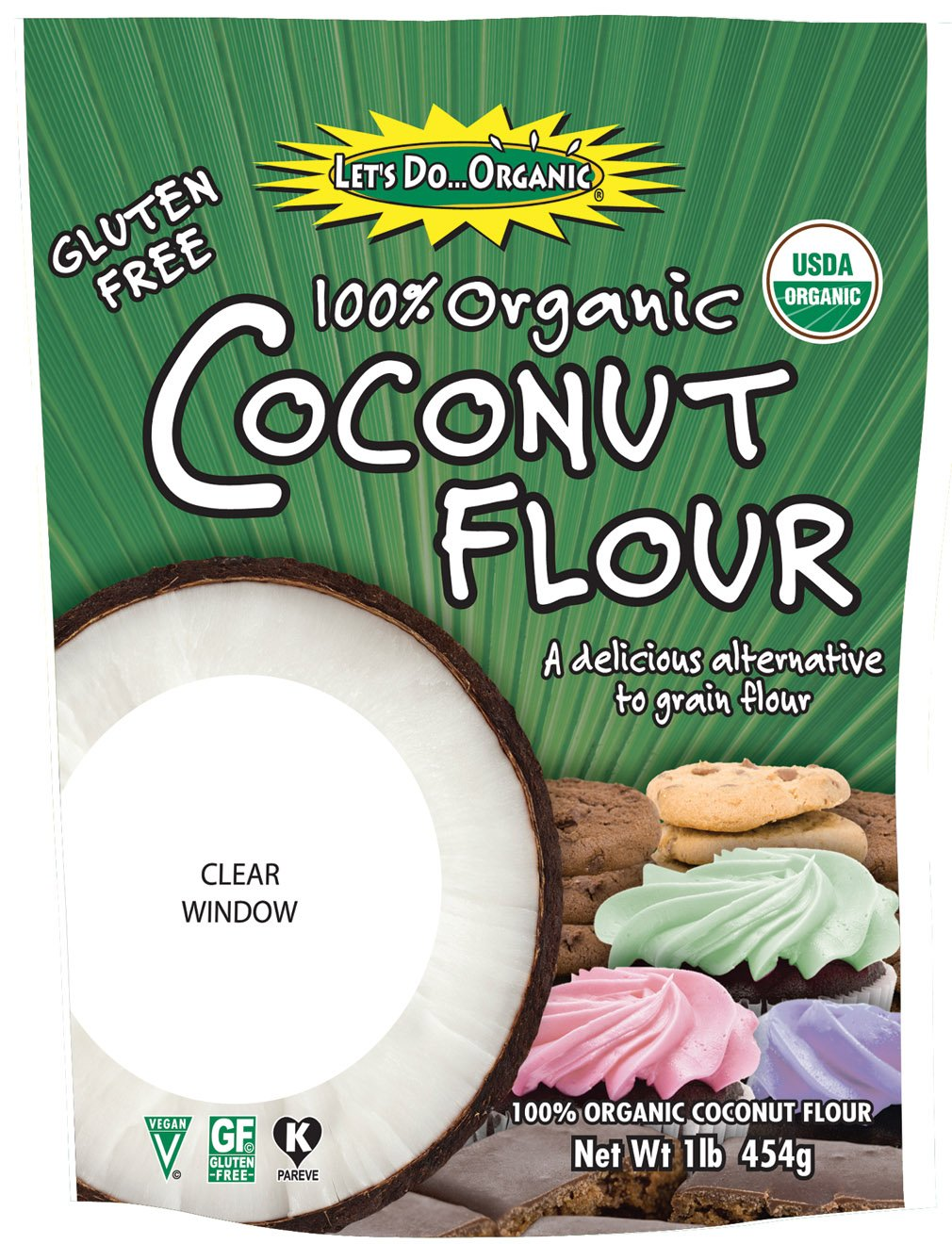 Let's Do Organic Coconut Flour, 16-OuncePouches (Pack of 6)