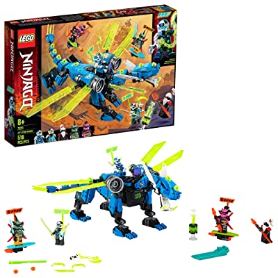 LEGO NINJAGO Jay's Cyber Dragon 71711 Ninja Action Toy Building Kit, New 2020 (518 Pieces): Toys & Games
