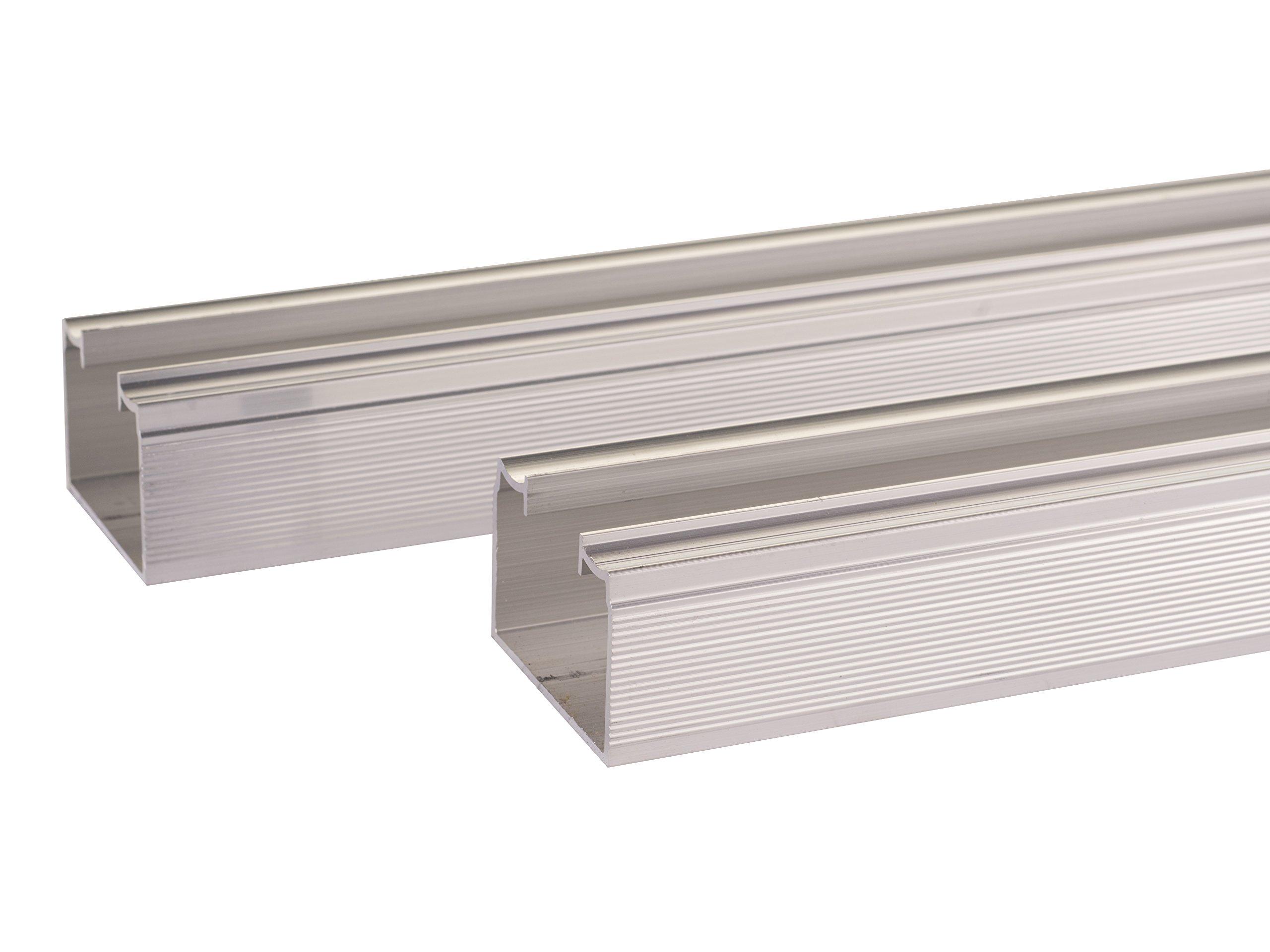 100SD Sliding Bypass Door Hardware (96 In. Length 2 Door System) by Johnson Hardware (Image #2)