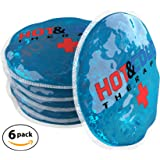 Ice Packs For Injuries Reusable Gel Hot Cold Flexible Compress Ideal For Breast Feeding , Tooth , Face , Arthritis , Headache , Eye , Cramp and Joint Pain Relief
