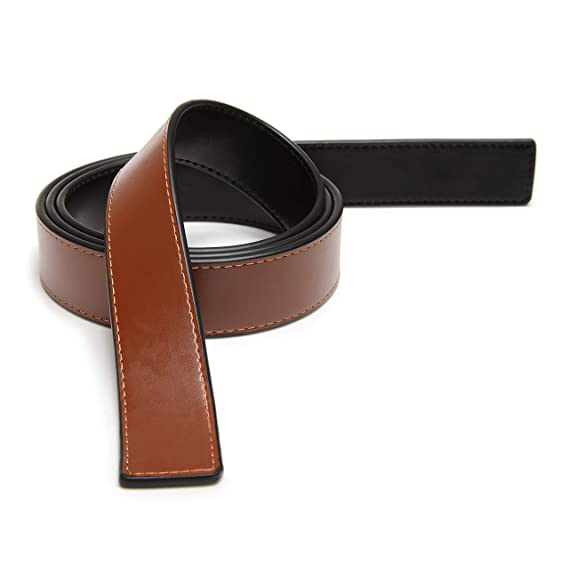 c1cb2ff5c 100% Real Leather Reversible Belt Strap Replacement In Black/Brown,  Ferragamo Custom Fit 1.3